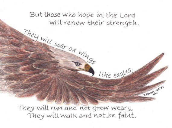 Scripture Print Isaiah 40:31 Soar like an Eagle