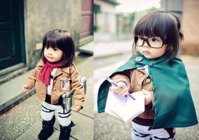 Attack On Titan Baby Cosplay Baby Cosplay Mikasa