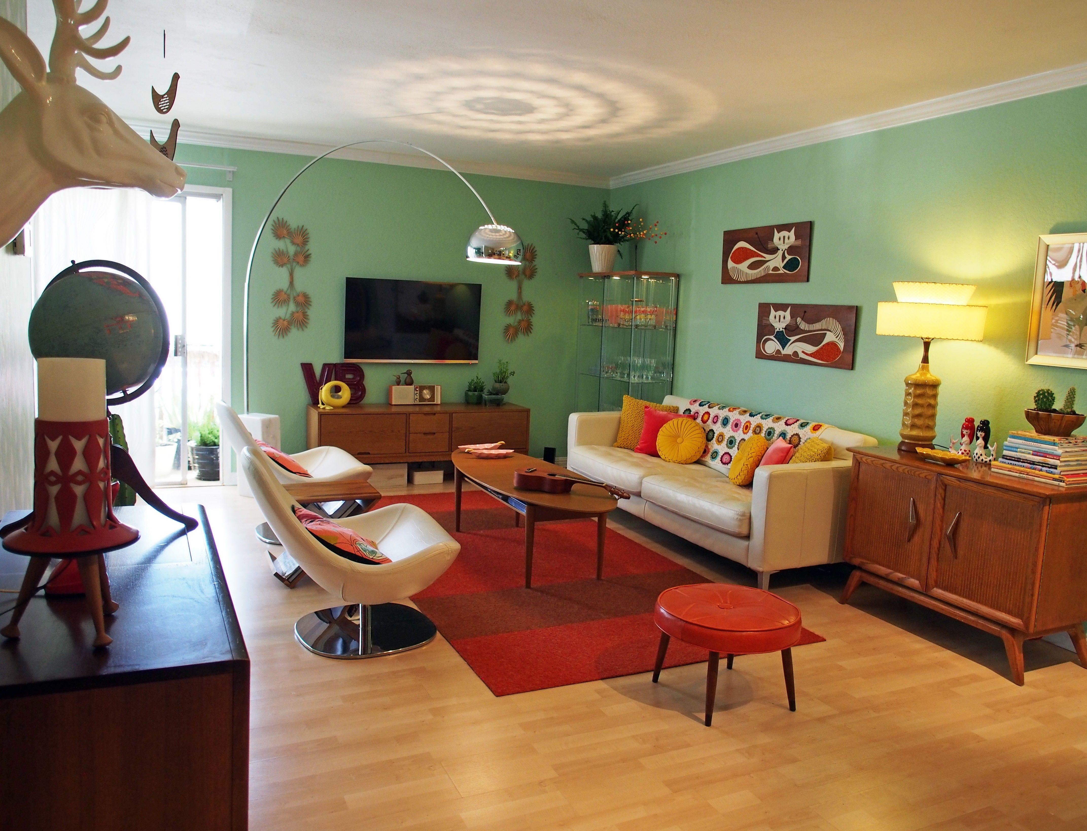 1950s Living Room Decor Fantastic Retro Living Room