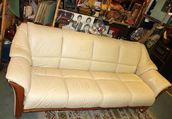 Remarkable Vintage Ekornes Stressless Leather Couch Sofa Teak Wood Pdpeps Interior Chair Design Pdpepsorg