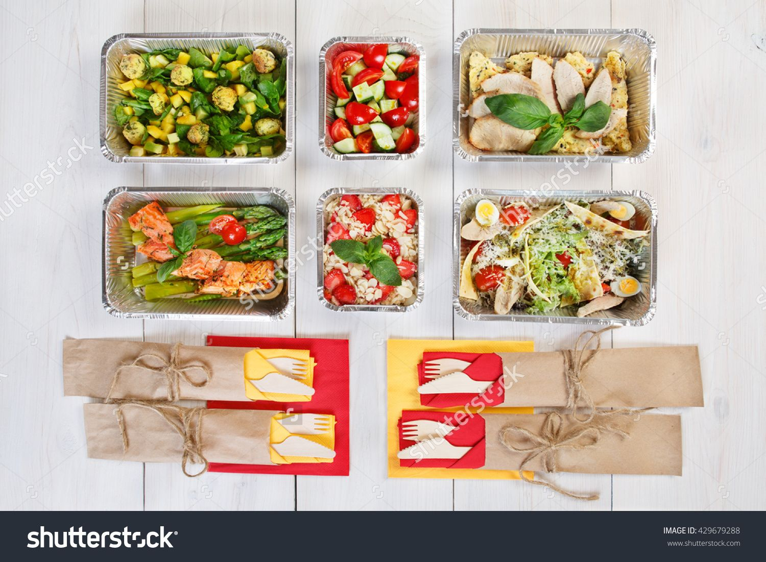 Healthy Food Delivery Take Away Of Natural Organic Low Carb Diet