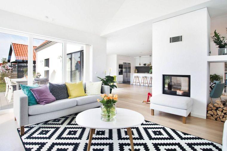 Idée déco salon : le salon en style scandinave | Modern house ...