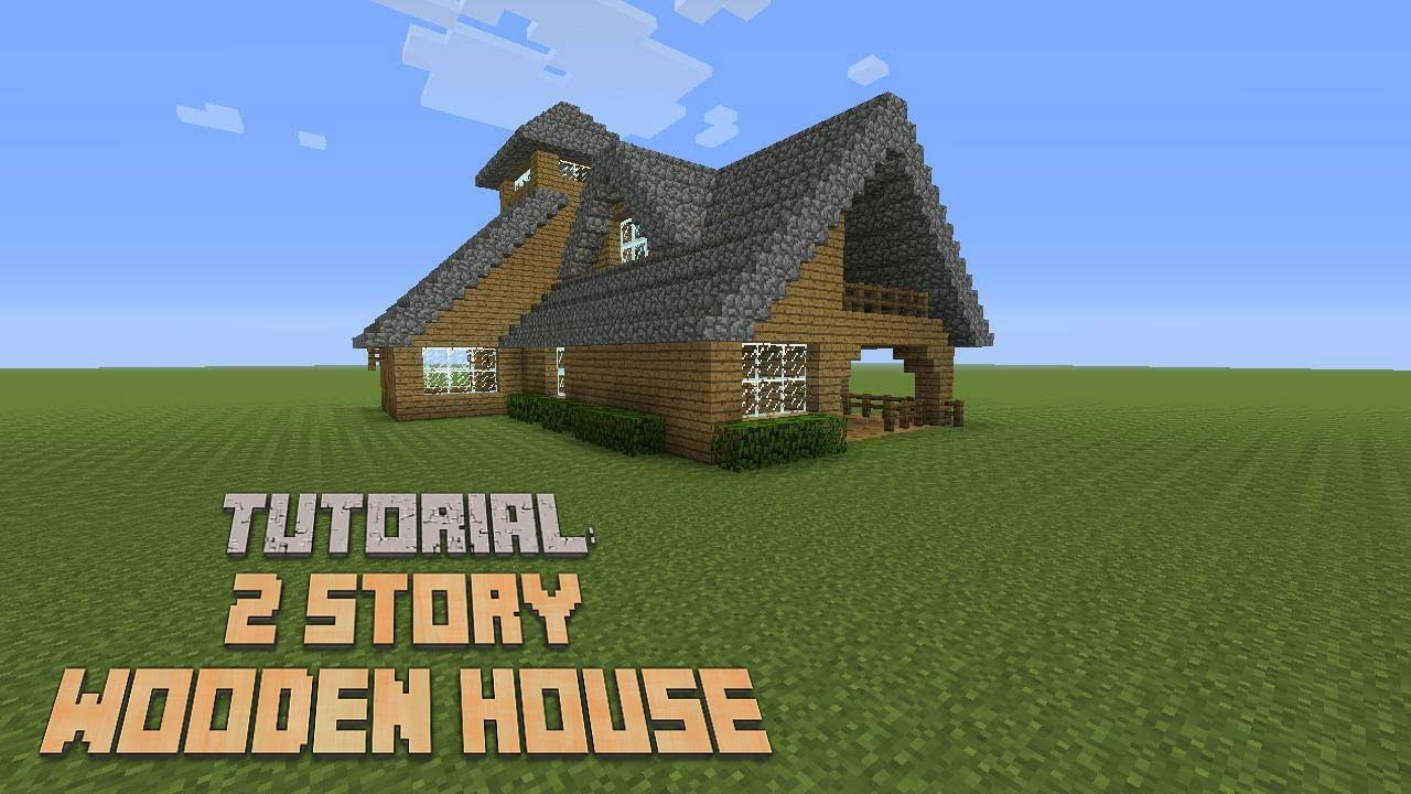Minecraft How To Build A 2 Story Wooden House Version 3