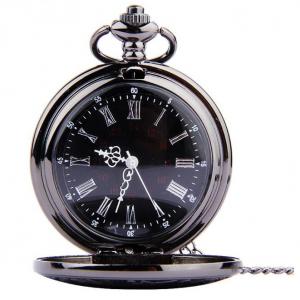 Luxusné vreckové pánske hodinky v čiernej farbe s retro ciferníkom ... c050ee90a62