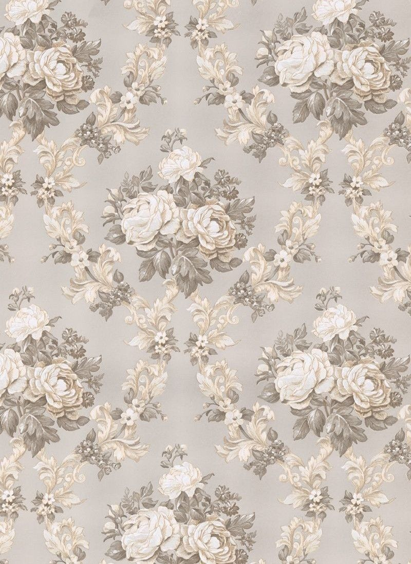 Beautiful old,fashioned pattern with roses in soft colors