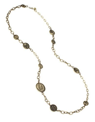 Betsey Johnson Throwback Betsey Coin Necklace Women's Gold