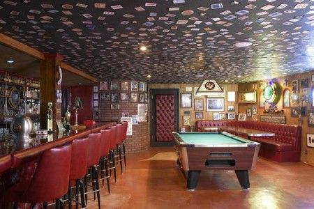 Man Cave Cards On Ceiling Idea Basement Ceiling Low Ceiling Low Ceiling Basement