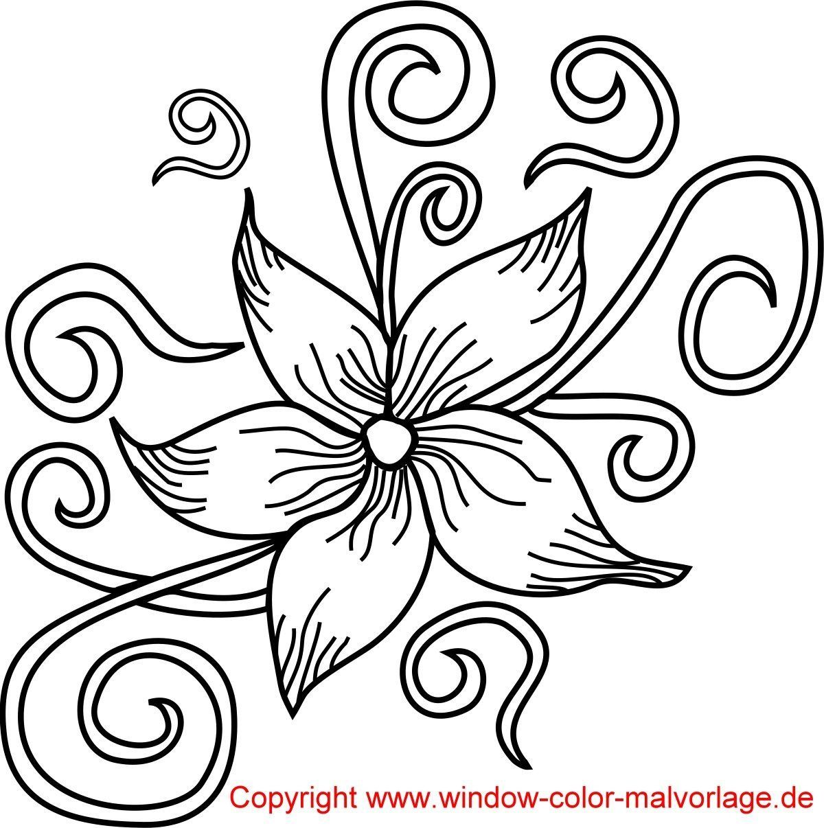 Malvorlagen Blumen Ranken Seni