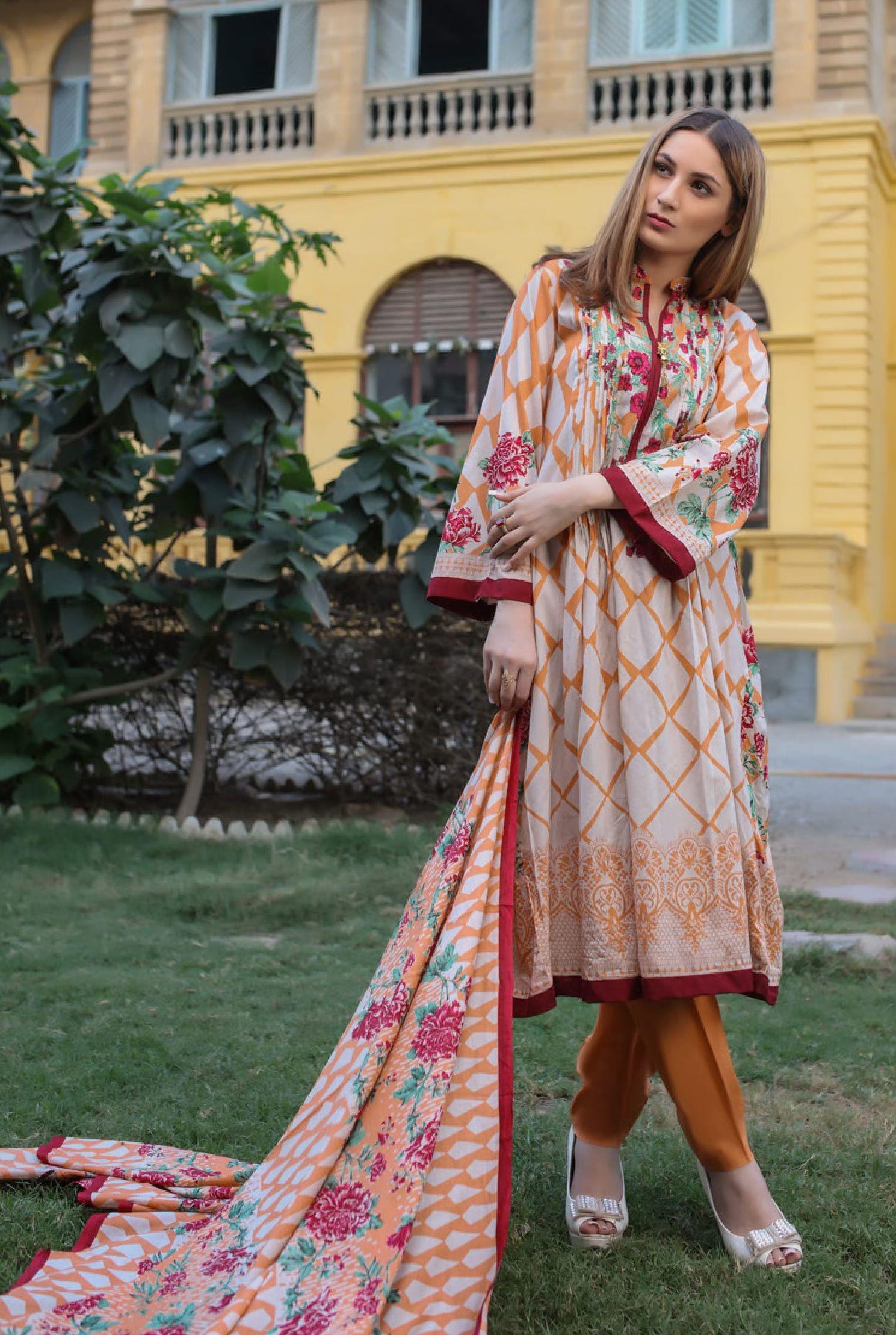 2ddf46605b Riwaz Printed Lawn Collection Original Pakistani Suit 1a | PAKISTANI ...