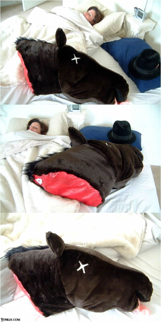 Godfather (horse head) pillow. Lol!