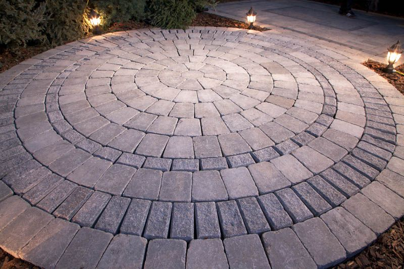Our Stone Oasis prepackaged circle patio kits are available with optional  border, and includes everything you need for easy installation -- no  cutting ... - Our Stone Oasis Prepackaged Circle Patio Kits Are Available With