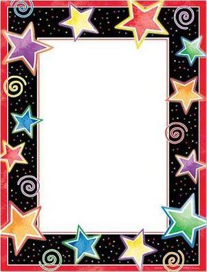 Estrellas Borders For Paper Clip Art Borders Preschool Crafts