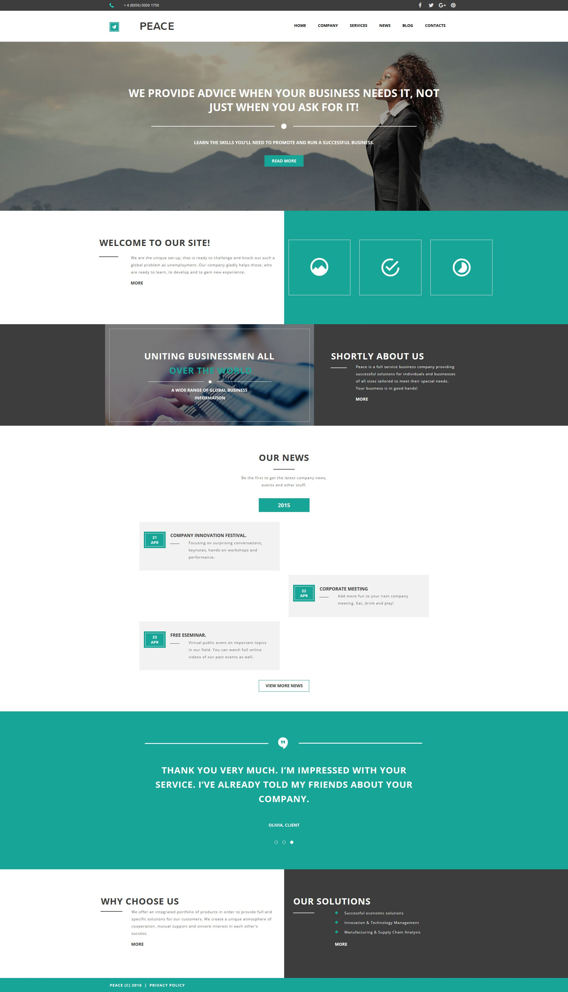 Website Layout Template Business Responsive Moto Cms 3 Template  Business Ux Design And