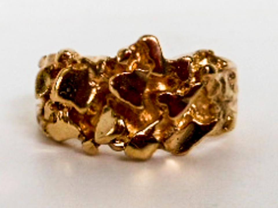 Your Place To Buy And Sell All Things Handmade Gold Nugget Ring Gold Nugget I Love Gold