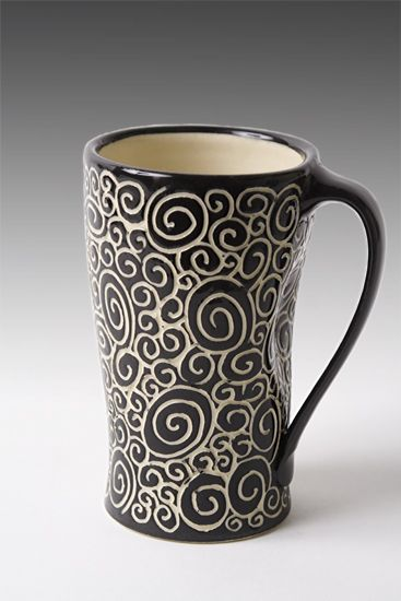 Doodle Mug by Jennifer Falter (Ceramic Mug) | Artful Home