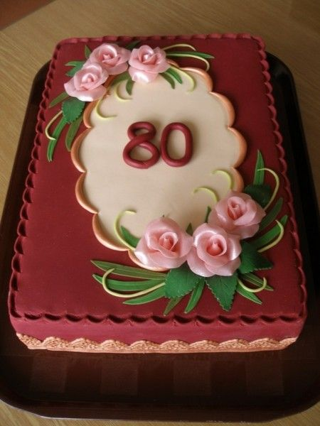 80th Birthday Cakes and Cake Ideas Elegant Cake and 80 birthday