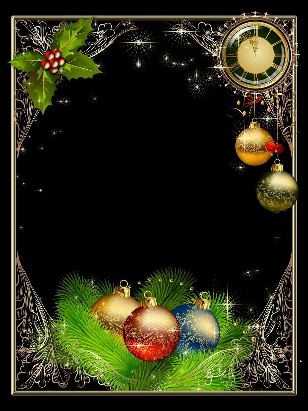 Bordes y marcos de fotos de navidad y a o nuevo marcos gratis cartas pinterest - Adornos para fotos gratis ...
