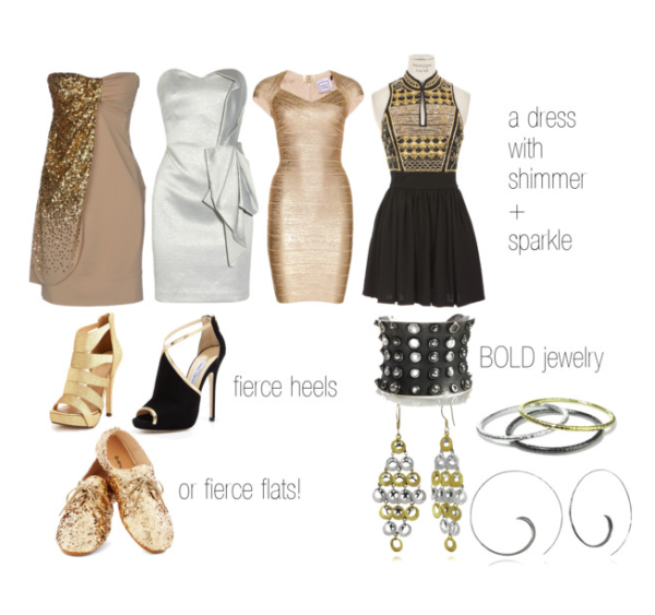 What Shoes and Accessories to Wear with Sequin Dress Sequins