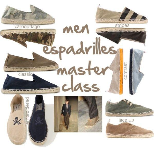 """men espadrilles master class"" by jofrebcn  #espadrilles #manebi #castaner #menshoes #polyvore"