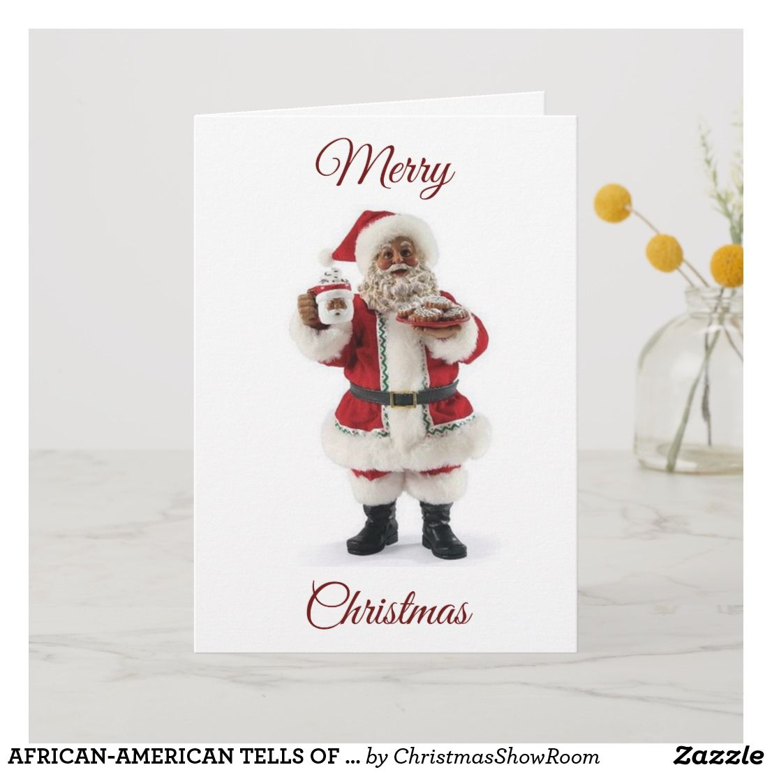 African American Tells Of His Christmas Love Holiday Card Zazzle