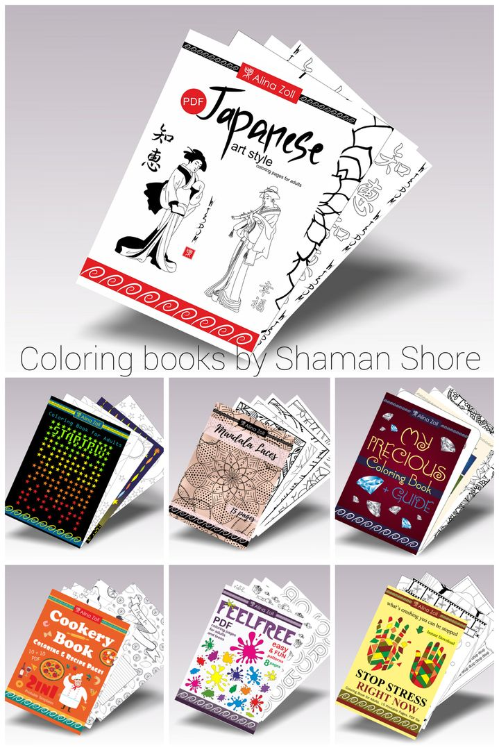 Japanese Coloring Book Pages For Adults Pdf Digital Download