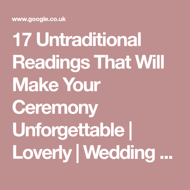 Beach Wedding Ceremony Playlist: 17 Untraditional Readings That Will Make Your Ceremony