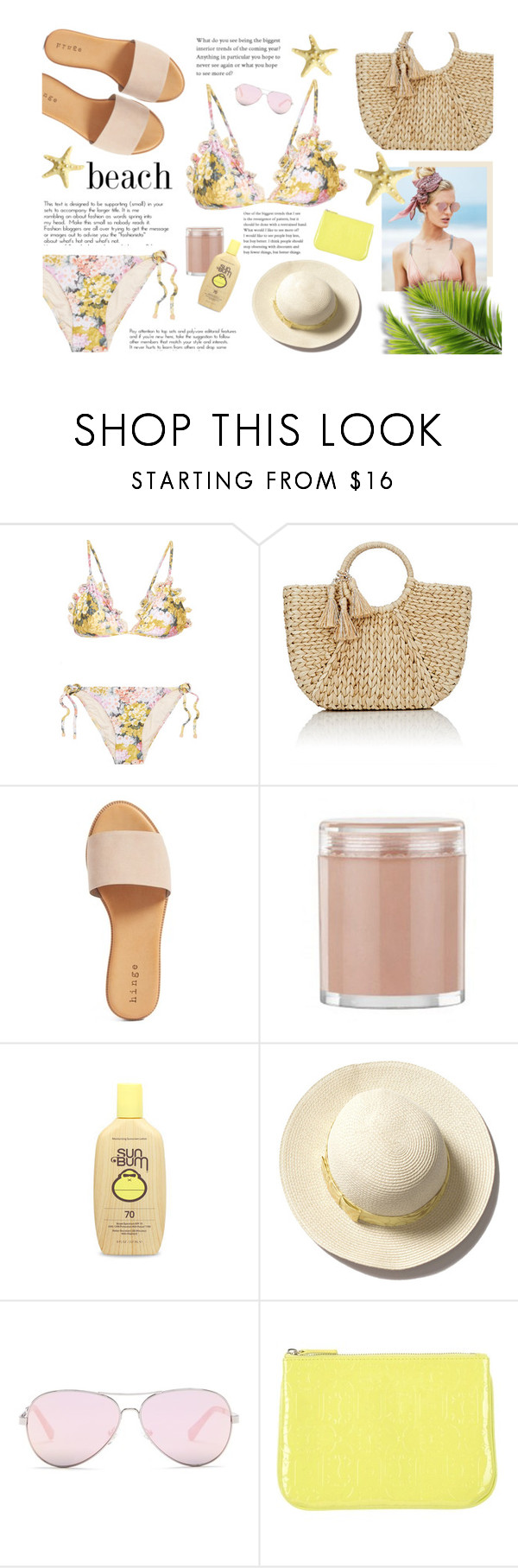 """""""Untitled #425"""" by blacksky000 ❤ liked on Polyvore featuring Zimmermann, Buji Baja, Hinge, Chantecaille, Chanel, Beach Riot, Kenneth Cole Reaction and LIU•JO"""