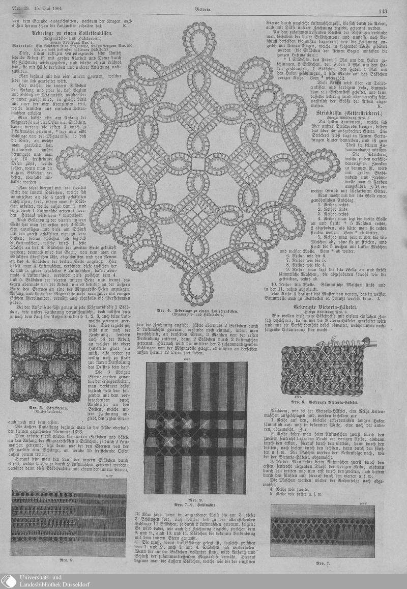 71 [143] - Nro. 19. 15. Mai - Victoria - Seite - Digitale Sammlungen - Digitale Sammlungen