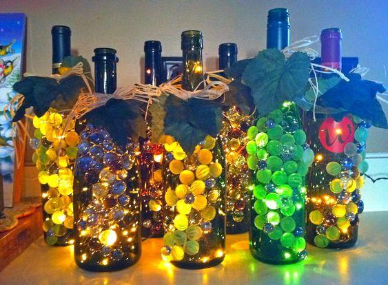 Garrafas De Bebidas Usadas Na Decora
