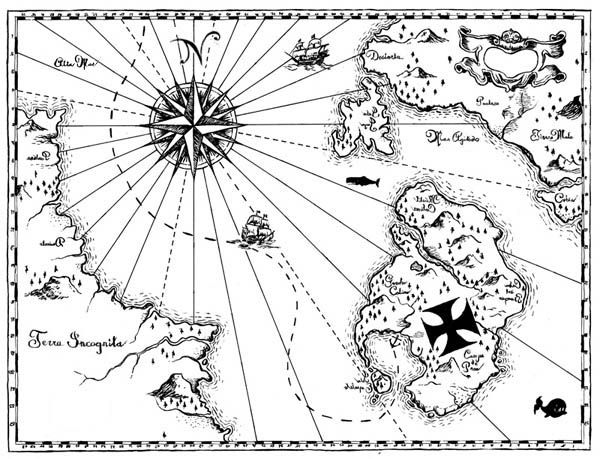 world treasure map coloring page halloween pinterest