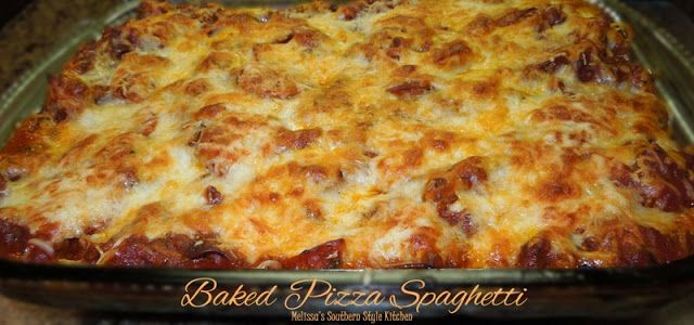 Baked spaghetti with a twist: Baked Pizza Spaghetti