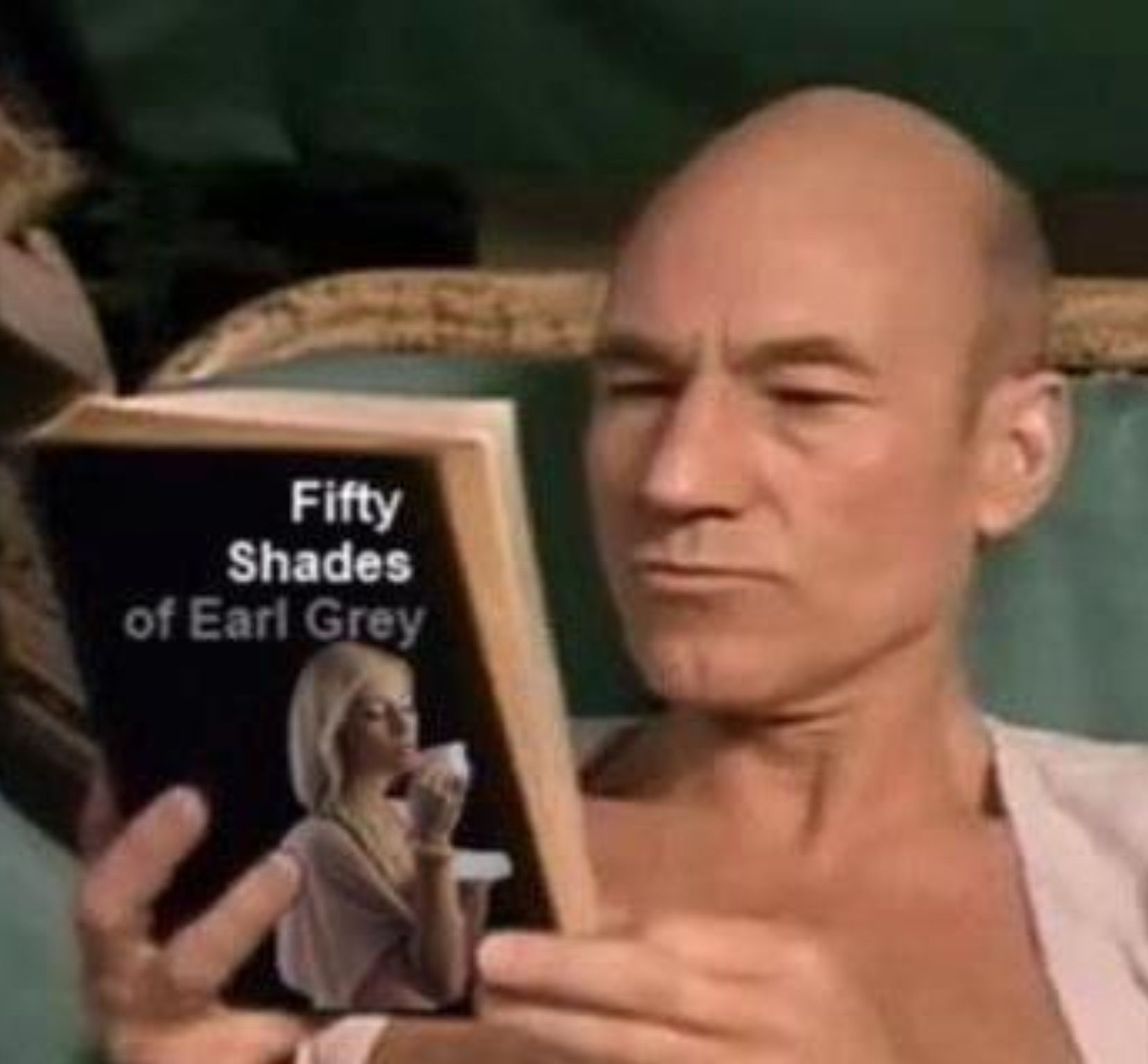 "Sir Patrick Stewart, ""Earl Grey.... Hot"" - he's got me hooked on it, wonderful tea!!!... wonderful actor and gentleman..."