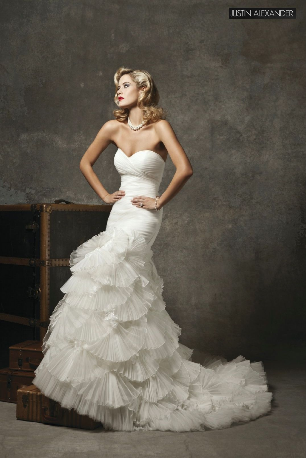 Mermaid the best wedding dresses pinterest mermaid weddings justin alexander wedding dresses style 8639 strapless sweetheart side pleated organza mermaid organza fan skirt with lace appliques buttons over the back ombrellifo Images