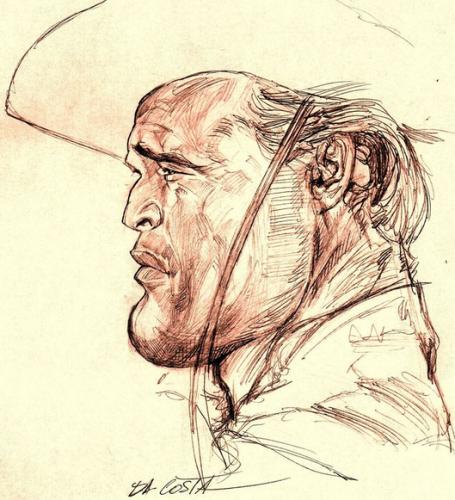 [ Marlon Brando ]  - artist: Charles Da Costa - website: http://chadacosta44.blogspot.com