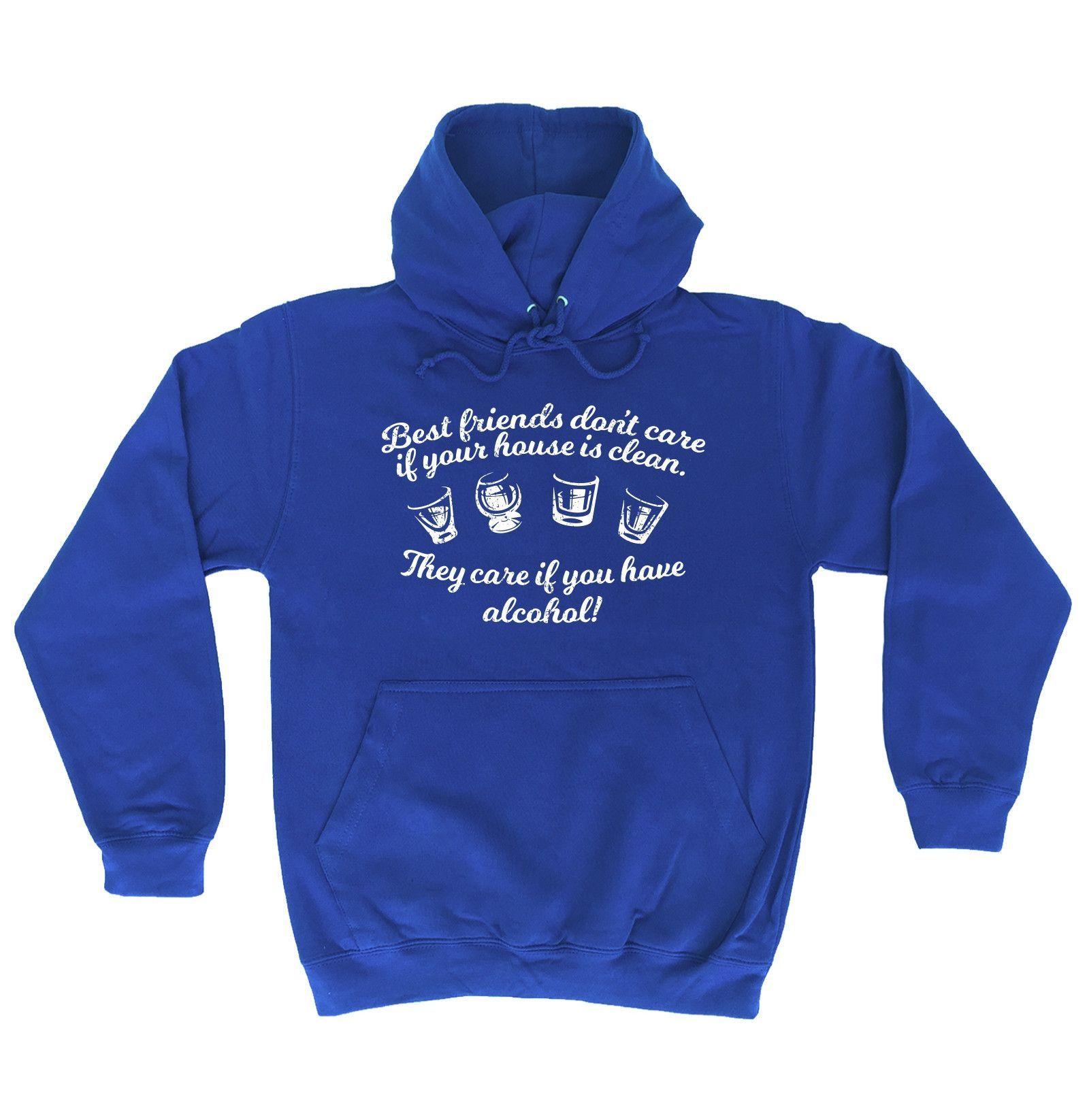 123t USA Best Friends Don't Care If Your House Is Clean Funny Hoodie