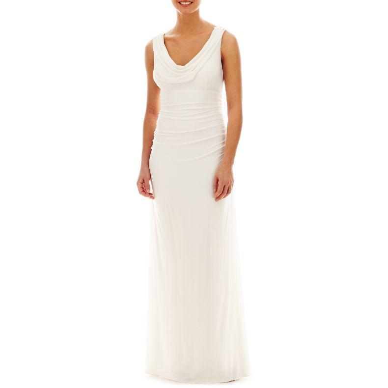 Liliana Embellished Cowlneck Dress