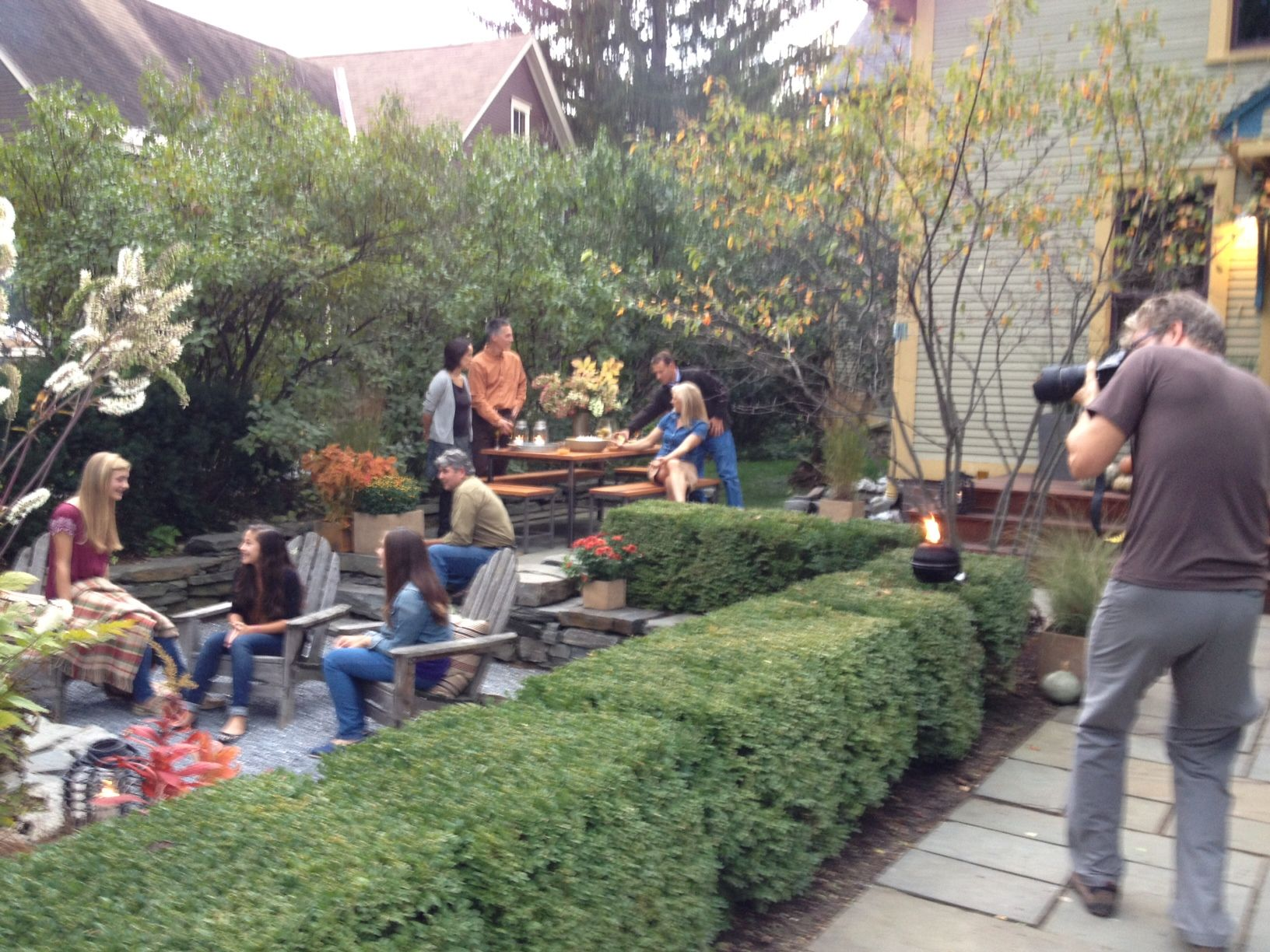 Shooting A Backyard Party Scene Takes Lot Of Prep