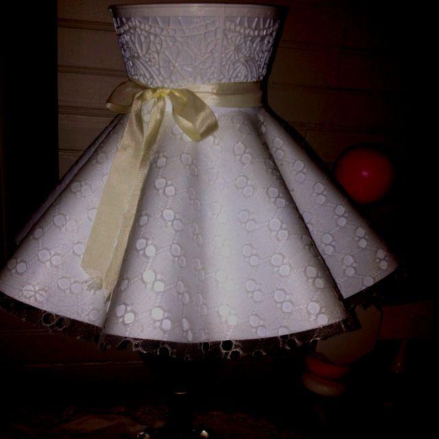 Wedding Dress Lamp Shade from Bible Study Retreat Cabin