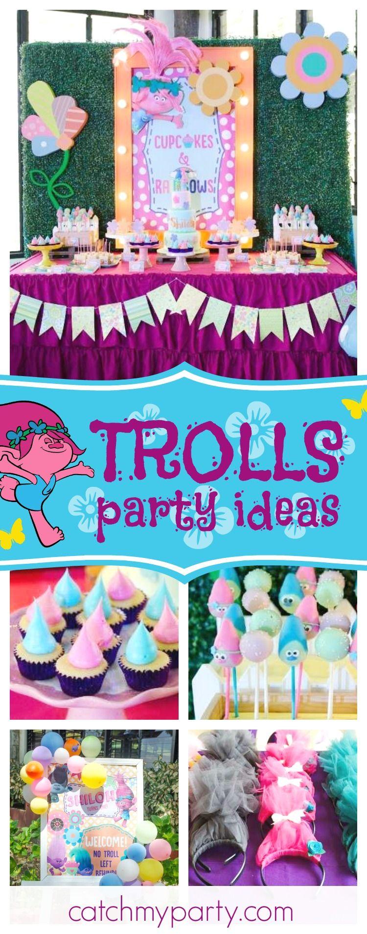 Trolls Birthday Shiloh S Trolls Themed Party Catch My Party Trolls Birthday 1st Birthday Parties Trolls Birthday Party