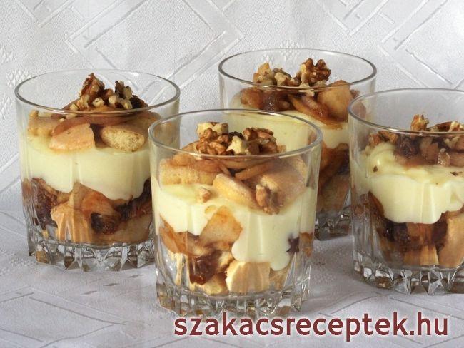 Őszi almás pohár
