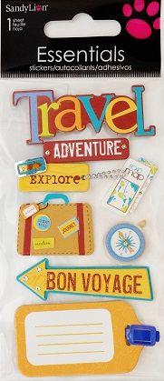 scrapbooking travel stickers   travel adventure 3d ...