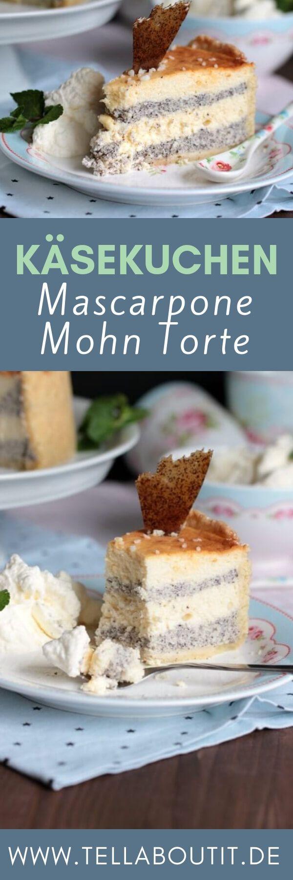 Mascarpone-Mohn-Torte [Gastbeitrag von Sasibella] #marshmallows