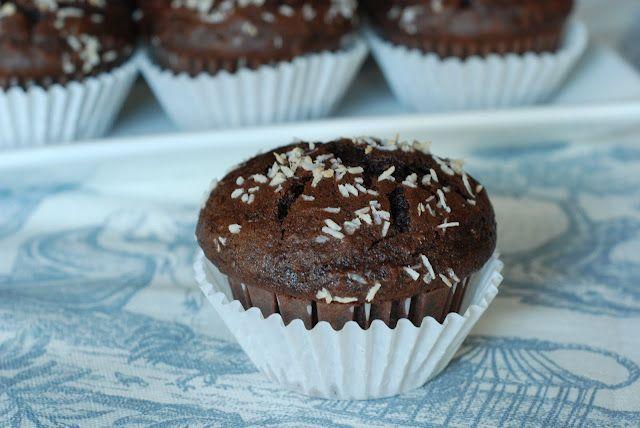 Chocolate Banana Coconut Muffins