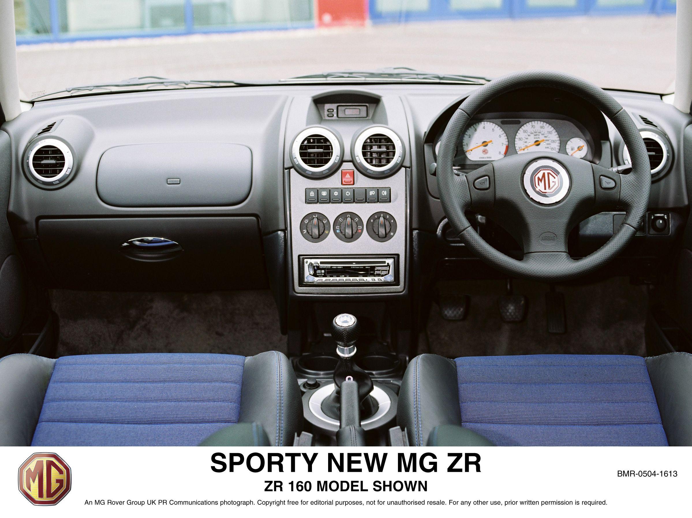 2004 mg zr interior