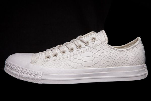 043232d8c14dfd All White All Star Converse Crocodile Leather Chuck Taylor Low Cut Sneakers   converse  shoes