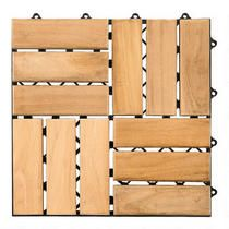12u201d X 12u201d Teak Patio Flooring Tiles, 10 Pack