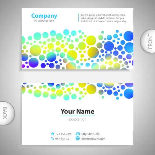 Excellent business cards front back template vector 11 | Templates ...