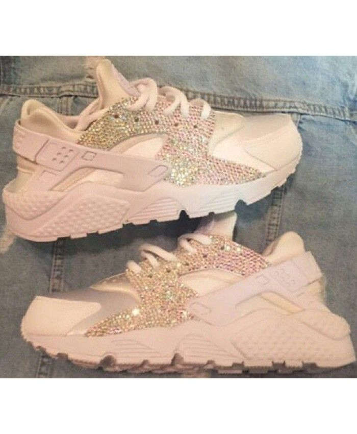 competitive price a2084 f714b ... Fast Delivery and Best Service. Nike Huarache Custom Bright Gold Khaki  Womens Shoes