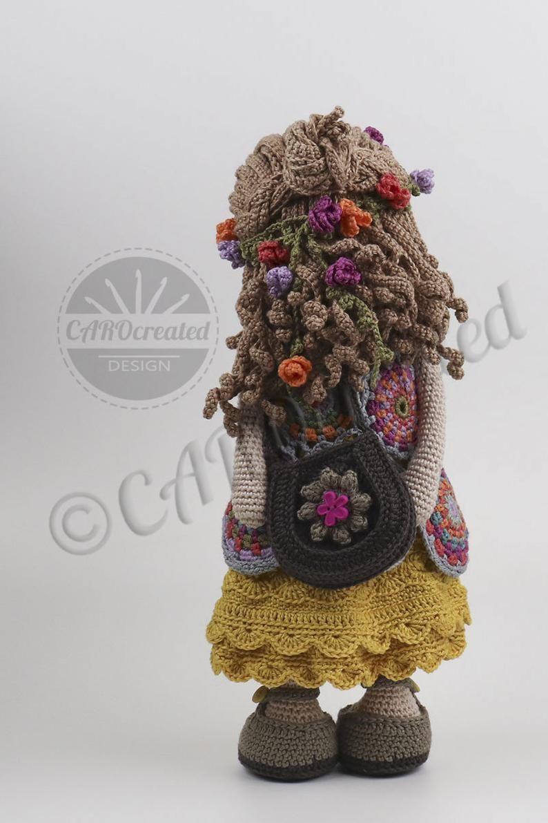 Deutsch, English, Fran\u00e7ais, Nederlands, Espa\u00f1ol, Italiano Crochet Pattern for Doll VANIA pdf