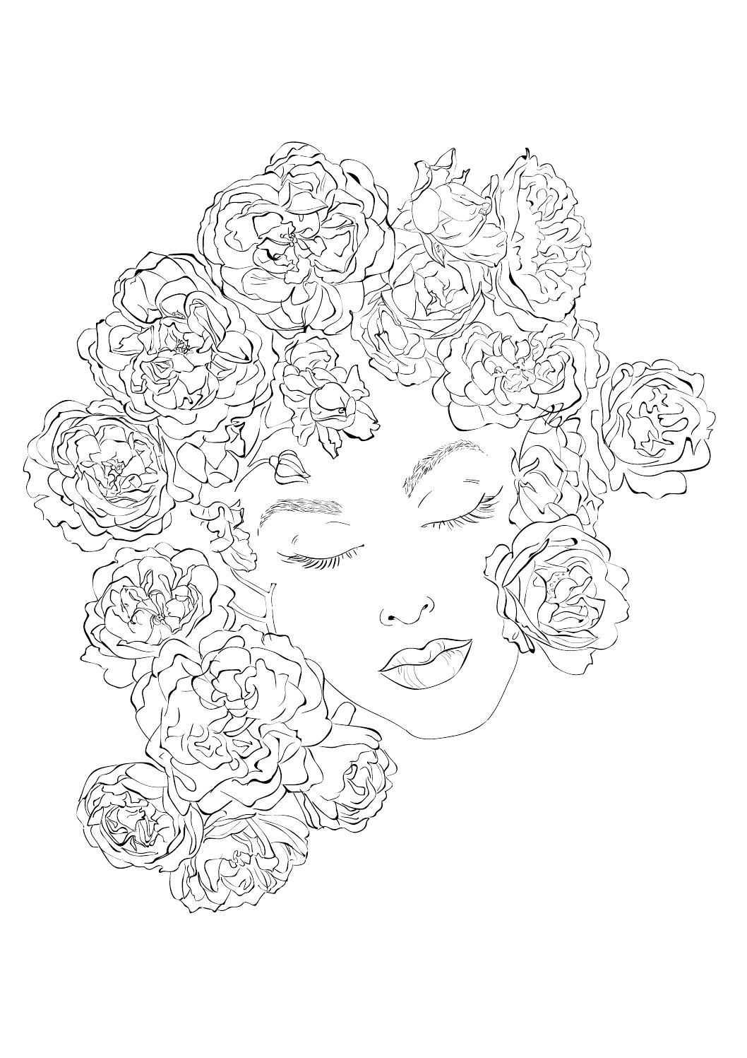 Rozes Pages To Color Pinterest Coloring Pages Colorful